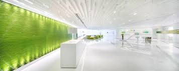 green office design. Green Feature Wall Office Design I
