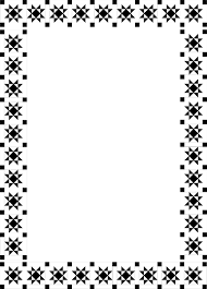 Fancy Borders Clip Art Illustration Of A Fancy Frame Border