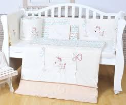 pony bedding sets cotton white baby bedding set embroidery lovely pony crib bedding set 5 item