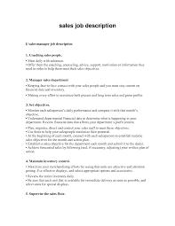 Job Description For Retail Sales Associate Resume Home Design