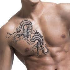 1 Sheet Unisex Women Men 3d Black Dragon Removable Waterproof Temporary Tattoo Arm Leg Body Art Sticker