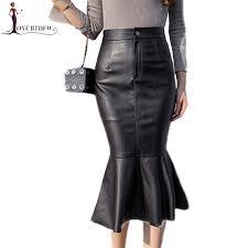 <b>2018</b> Autumn Winter PU leather Half Skirt <b>Mid long</b> Fashion <b>New</b> ...