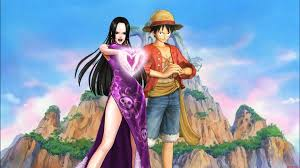 Download Wallpaper Luffy And Hancock HD ...