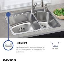 33 x 19 x 8 kitchen sink elkay dayton 33stainless steel kitchen sink