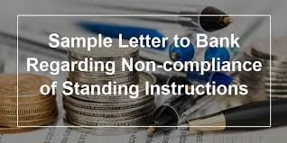 Sample Complaint Letter To Bank Regarding Non Compliance Of Standing