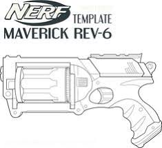 Personable Nerf Coloring Pages Printable For Beatiful Nerf Gun