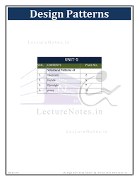 Design Patterns Lecture Note For Design Pattern Dp By Rajesh Kanna