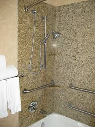 holiday inn express hotel suites tub shower combo with plenty of grab bars