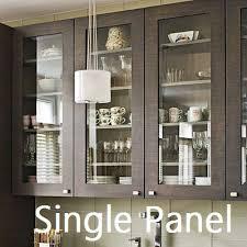 Single Panel Kitchen Cabinet Glass Door