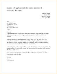 Cover Letter Sample Job