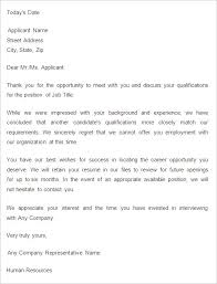 Ideas Of Position Rejection Letter Examples Fancy 9 Job Rejection