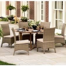7 piece patio dining set. 7 Piece Dining Sets Outdoor Wicker Round Patio Set Walmart
