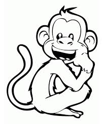 Monkey Face Coloring Pages At Getdrawingscom Free For Personal