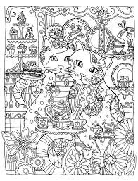 Small Picture two cute cats Animals Coloring pages for adults JustColor