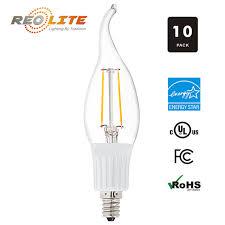 E12 400 Lumen Light Bulb Reo Lite Led Chandelier Light Bulb 4w 400 Lumens 40w Equal 2800 Kelvin Clear Flame Tip Bent Tip Candelabra E12 Base 120v 10 P