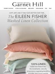 garnet hill eileen fisher washed linen bedding only at garnet hill milled