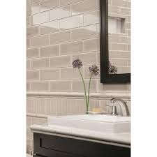 Ceramic Wall Tiles Kitchen Shop Allen Roth 8 Pack Pearl Ceramic Wall Tiles Common 3 In X