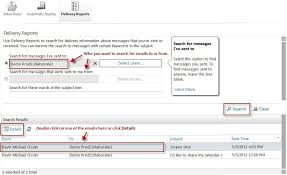 Dilivery Report Collaboration Services Create E Mail Delivery Report In Owa