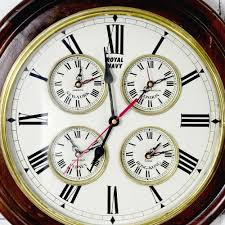 antikcart vintage large dial classic royal navy world wall clock dial close look