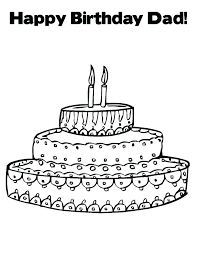 dad coloring pages happy birthday coloring pages for dad birthday cake to color happy birthday coloring