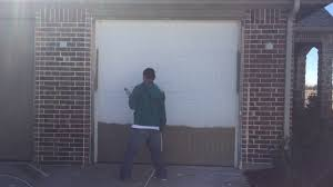 How To how to paint a door with a roller images : How to paint a garage door - YouTube