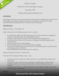 Resume Skills Examples Customer Service How To Write A Perfect Customer Service Representative Resume 15