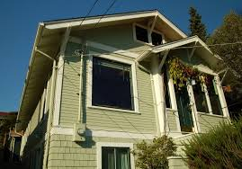 green exterior house paintSeattle Fremont Craftsman exterior house painting  Step Up Painting