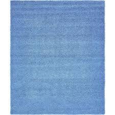 unique loom solid periwinkle blue 8 x 10 rug