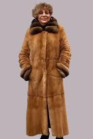 used cat lynx coat sheared mink chinchilla trim
