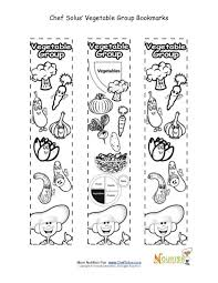 Small Picture Bookmarks Coloring Vegetable Food Group Activity Chef Solus