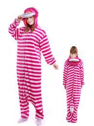 Kigurumi Onesie Size Chart Cheshire Cat Kigurumi Onesie Pajamas Soft Flannel Unisex Animal Costumes