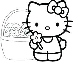 Kitty Cat Coloring Page Pages Hello Pictures Printable Dropnewsme