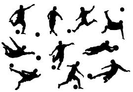 多款动感踢足球的人物剪影矢量素材我爱素材