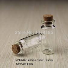 x10ml small glass bottles vials jars with cork corks stopper decorative corked tiny mini wising glass bottle for pendants high quality glassware gi china