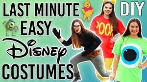Homemade Disney Costume Ideas Diy Last Minute Disney Costumes Halloween 2016 Youtube