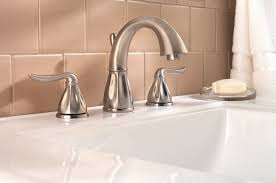 home depot brushed nickel bathroom sink faucets. brass home depot bathroom faucets on undermount sink with cream wall tiles: brushed nickel