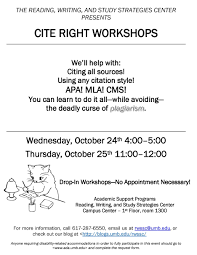 Cite Right Workshops Reading Writing And Study Strategies Center