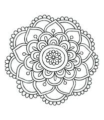 Simple Mandala Coloring Pages Inspirational Simple Mandala Coloring