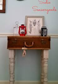 repurposed vintage suitcase to storage table, diy, painted furniture,  repurposing upcycling, shabby