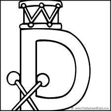 Small Picture Alphabet Coloring Page Letter D Printables for Kids free word
