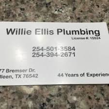 plumber killeen tx. Perfect Plumber Photo Of Willie Ellis Plumbing  Killeen TX United States Simple  Business Card In Plumber Killeen Tx E