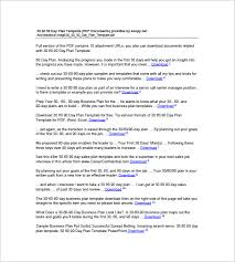30 60 90 Business Plan 30 60 90 Business Plan Template Word 30 60 90 Day Business Plan