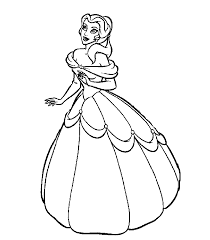 Small Picture For Kids Download Printable Princess Coloring Pages 12 For Your