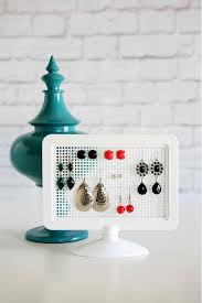 diy simple earring holder diy earring holder ideas see more at s