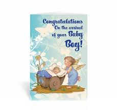 Congratulations For A Baby Boy Congratulations On The Arrival Of Your Baby Boy Greeting Card