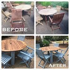 spray paint wooden outdoor furniture