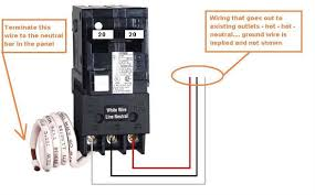 gfci breaker trips instantly as mike and others have said here s how it should be done 20a breaker shown just for reference