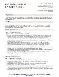 Registered Nursing Resume Staff Registered Nurse Resume Samples Qwikresume