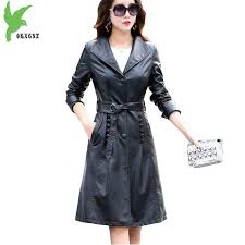 leather jacket women 2018 spring and autumn sheepskin coat plus size 5xl windbreaker female long jacket