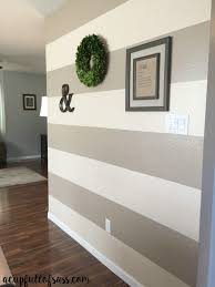 Stripe painted walls Designs Diy How To Paint Wall Stripes This Was So Easy And Made Huge Difference In This Room You Wont Believe The Before And After Pictures Pinterest How To Paint Wall Stripes Diy Projects Pinterest Striped Walls
